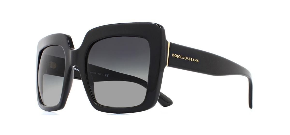 8b4fb6b7a2c8 Sentinel Dolce & Gabbana DG4310 Sunglasses Black 501/8G Grey Gradient 52mm