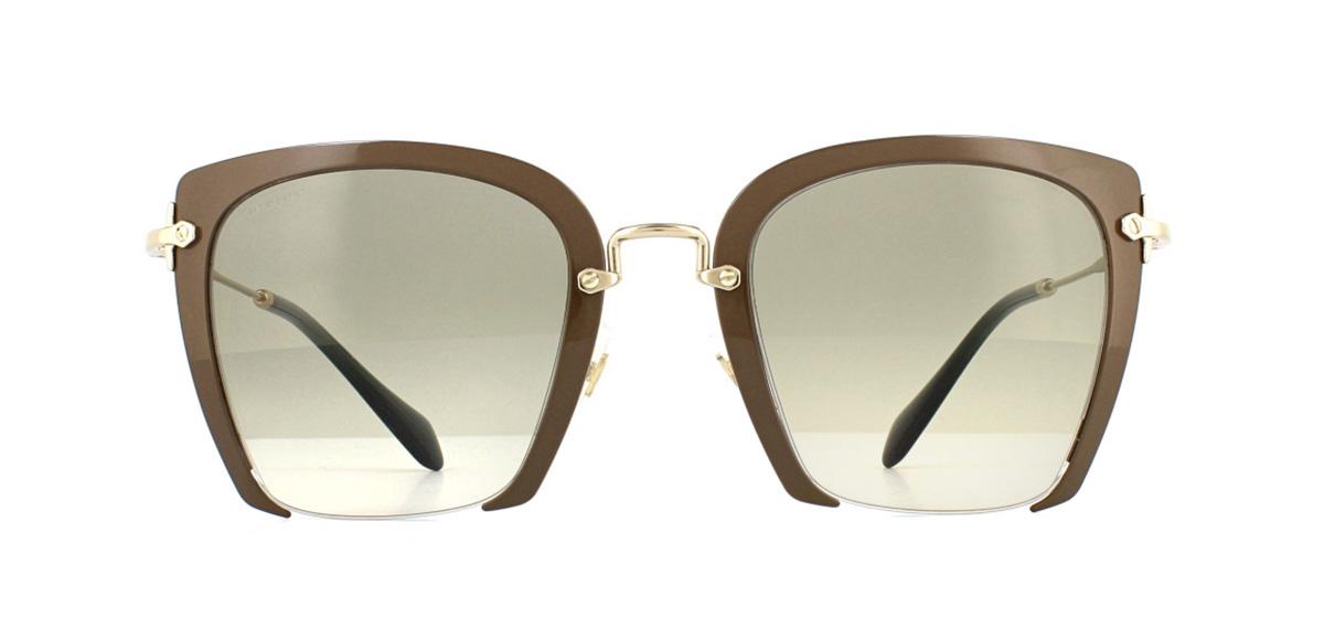 8ea42879ea1 Sentinel Miu Miu MU52RS Sunglasses Beige UR23H2 Light Brown Gradient 52mm