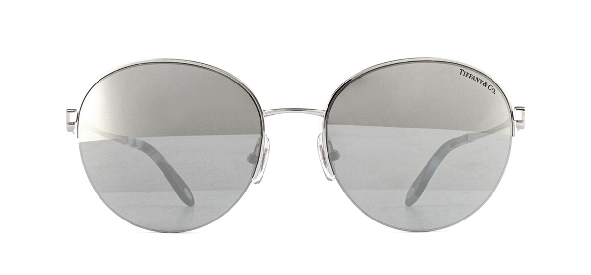 f80031762b4 Sentinel Tiffany TF3053 Sunglasses Silver 61086V Light Grey Mirror Silver  56mm