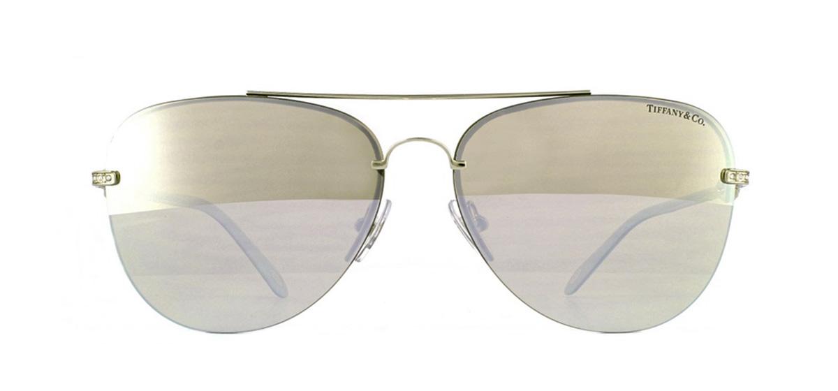 0fe655222e7 Sentinel Tiffany TF3054B Sunglasses Pale Gold 602164 Brown Mirror White 59mm