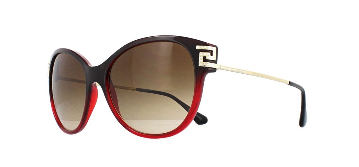 6cf2321953e5 Sentinel Versace VE4316B Sunglasses Transparent Red Gradient Black 507513  Brown Gradient