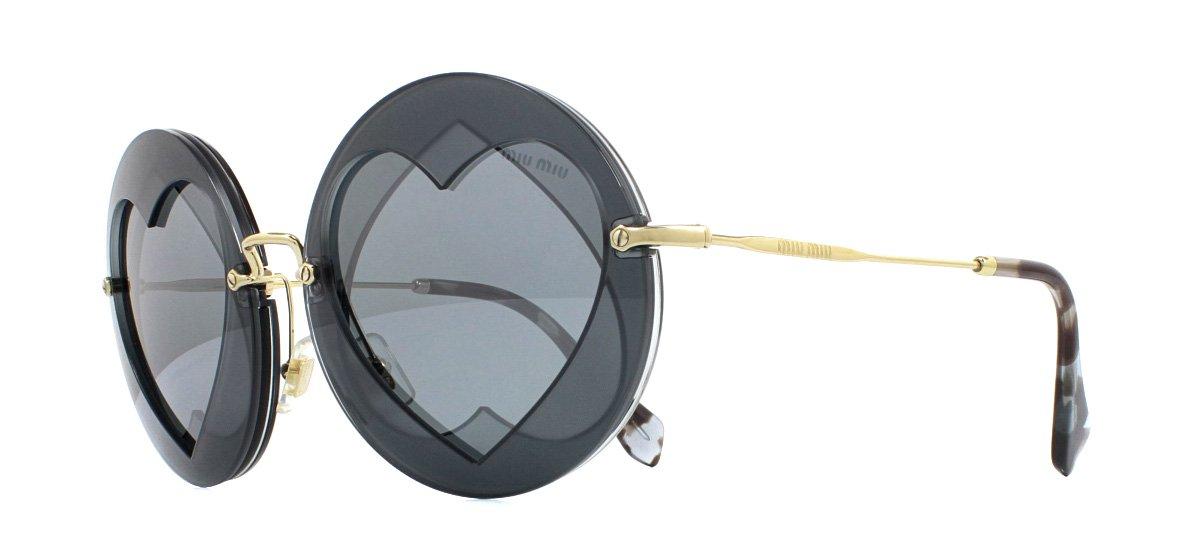Miu Miu MU01SS Occhiali da Sole Grigio VA35L0 Grigio Specchio 62mm ... 59dd6ed2640