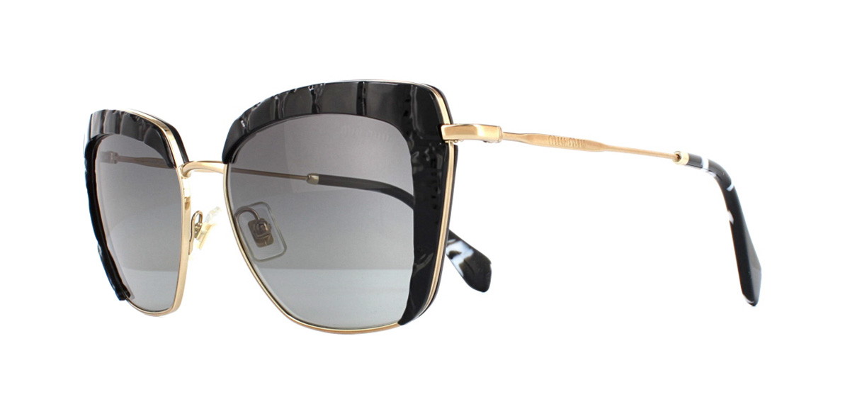 Sentinel Miu Miu MU52QS Sunglasses Black USW3M1 Grey Gradient 53mm c29b4b37886