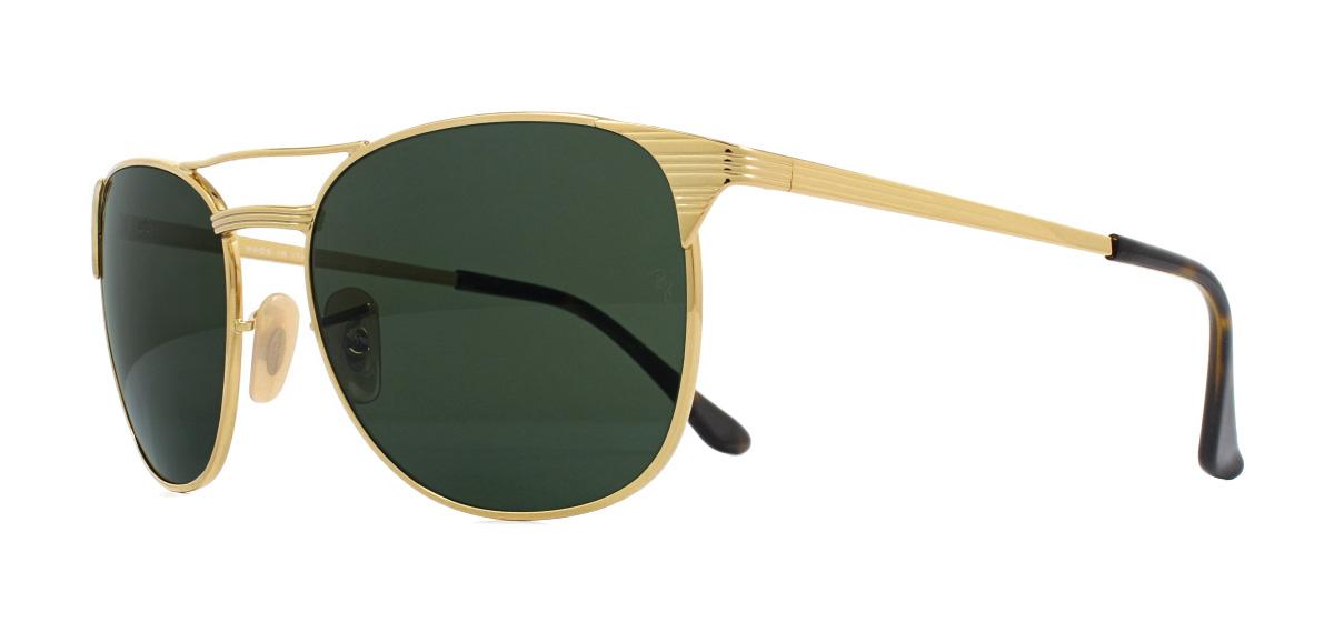 dec4424fe8 Ray-Ban Signet RB3429M Sunglasses Gold 001 Green 58mm 8053672673630 ...