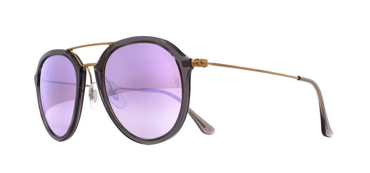 004eec0f5 Sentinel Ray-Ban RB4253 Sunglasses Shiny Grey 62377X Lilac Flash Gradient  53mm