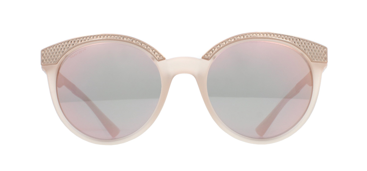 0e0dadad1a0 Sentinel Versace VE4330 Sunglasses Matte Opal Powder 52074Z Grey Mirror  Rose Gold 53mm
