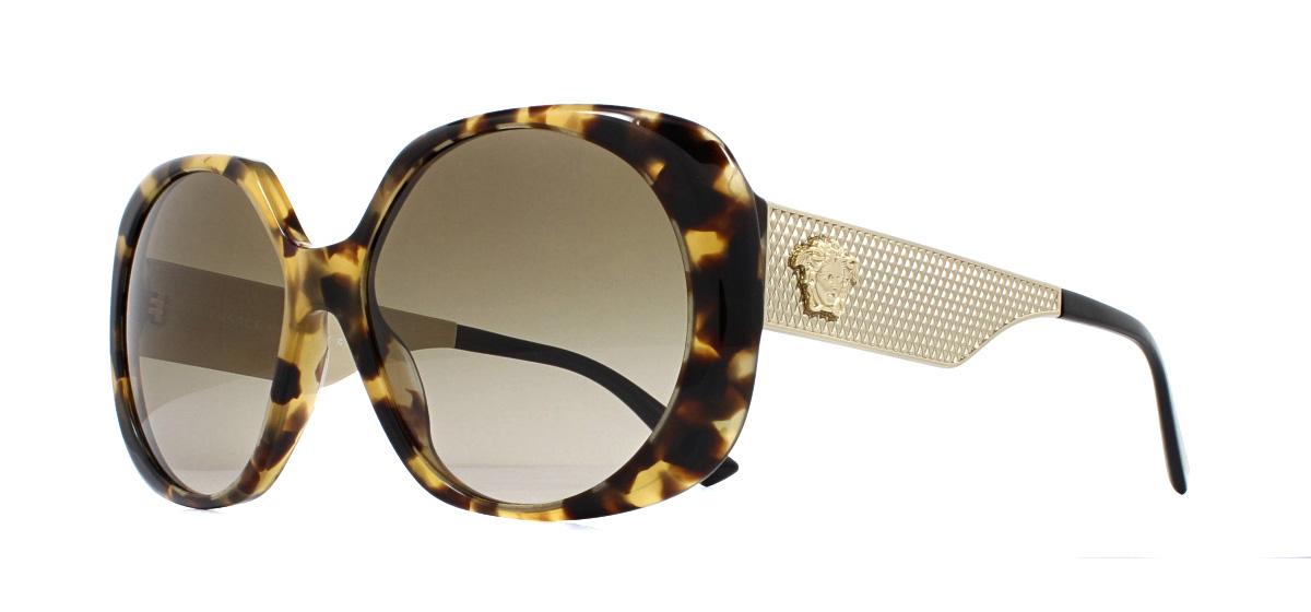 ae987159b4f Sentinel Versace VE4331 Sunglasses Havana 988 13 Brown Gradient 57mm