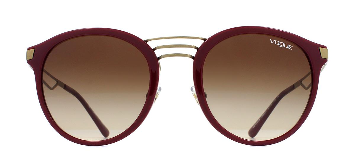 35d31a427 Sentinel Vogue VO5132S Sunglasses Dark Red 256613 Brown Gradient 52mm