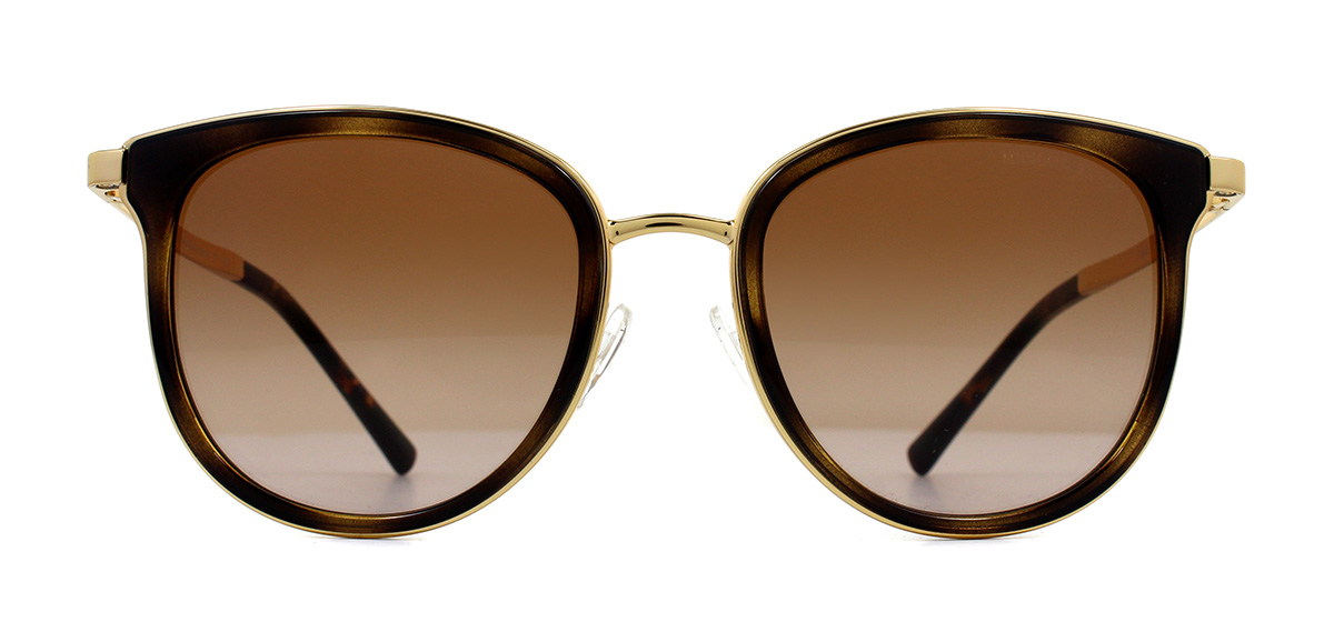 e7201e7a7efa3 Sentinel Michael Kors MK1010 Sunglasses Dark Tortoise Gold 110113 Brown  Gradient 54mm