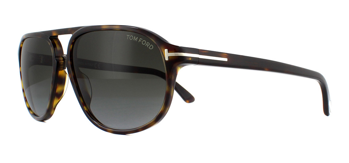 8fc93c7dcf3 Sentinel Tom Ford Jacob FT0447 Sunglasses Dark Havana 52B Grey Gradient 60mm