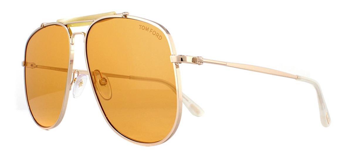 719fd11dbfaf1 Sentinel Tom Ford Connor FT0557 Sunglasses Gold 28E Gold 58mm