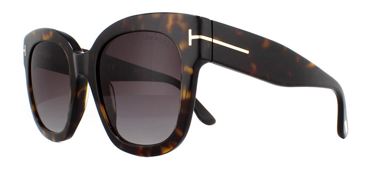 bdea10026d Sentinel Tom Ford Beatrix FT0613 Sunglasses Dark Havana 52T Bordeaux  Gradient 52mm