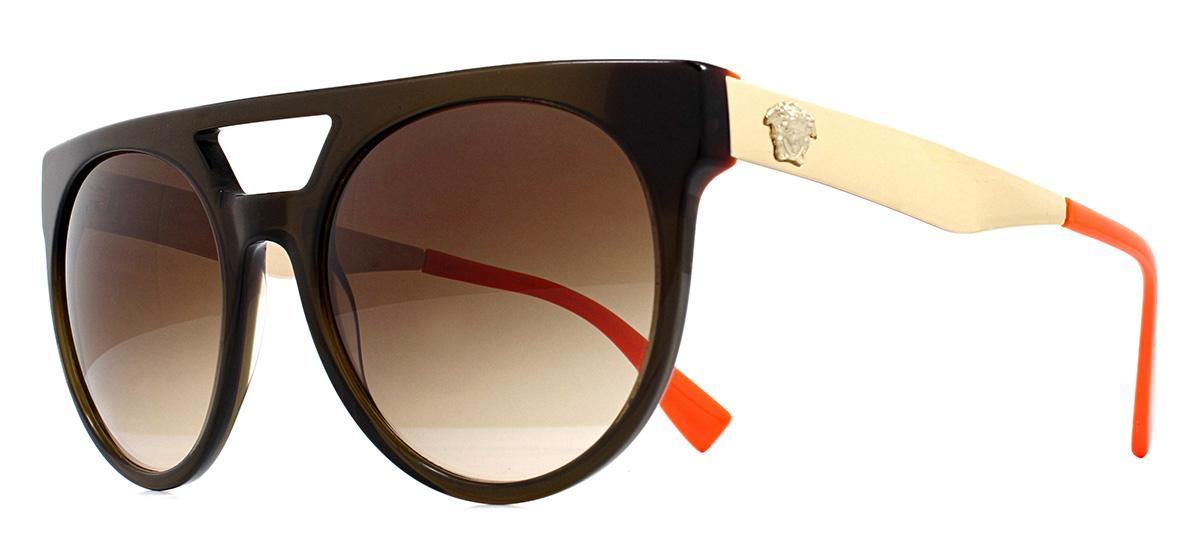 3a6732e427 CENTINELA Versace VE4339 gafas de sol transparente verde y naranja 5235/13  marrón degradado