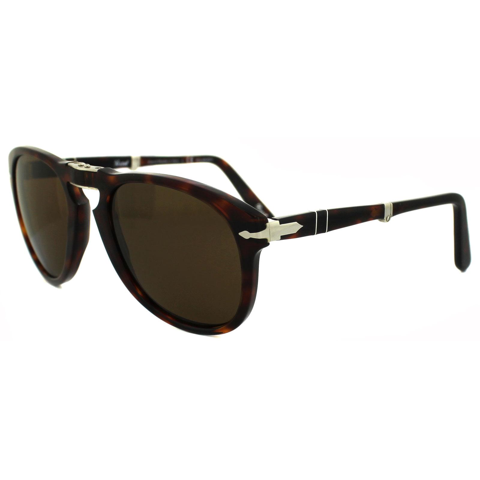 f9de226bd5 Sentinel Persol Sunglasses 714 24 57 Havana Brown Polarized Folding Steve  McQueen 54mm