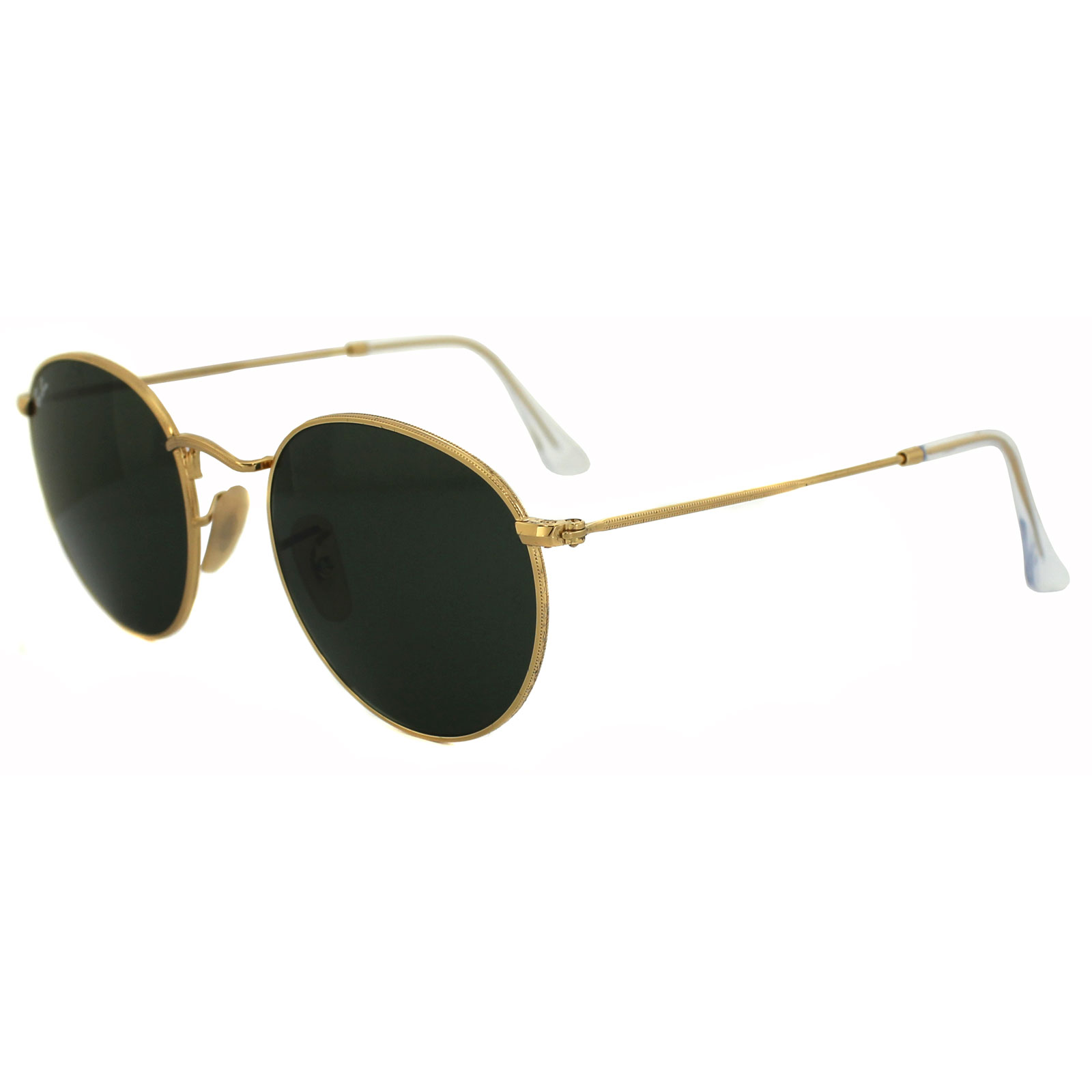 Sentinel Ray-Ban Sunglasses Round Metal 3447 001 Gold Green Medium 50mm c8475a9611