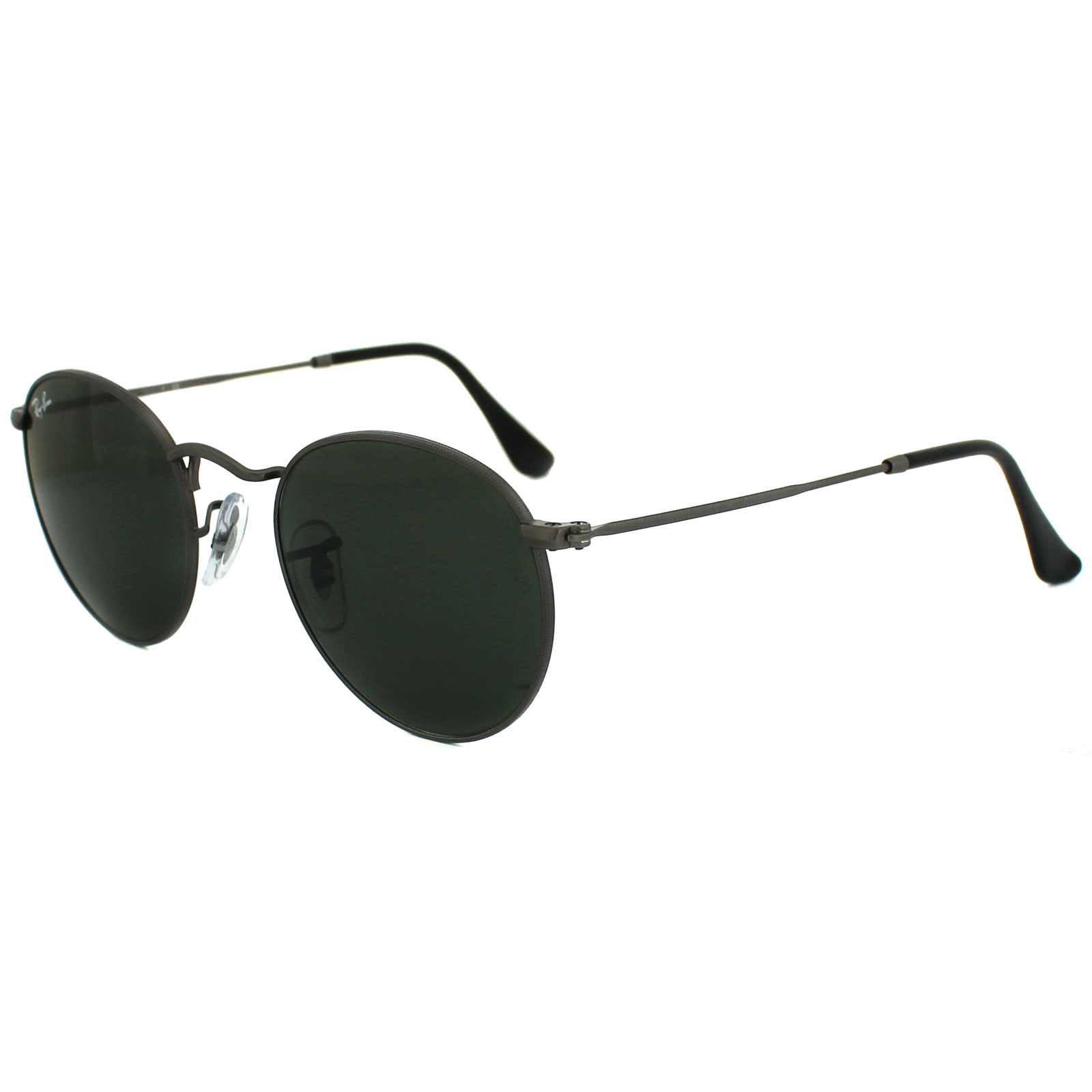 Sentinel Ray-Ban Sunglasses Round Metal 3447 029 Matt Gunmetal Green Small  47mm e3816a7513