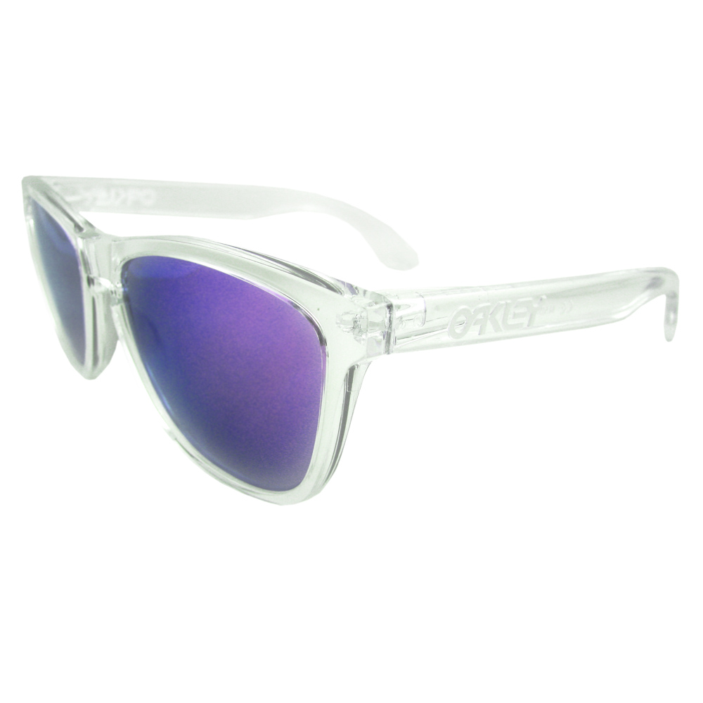 OAKLEY FROGSKINS Polished Clear l Violet Iridium 24-305 qEwSKo