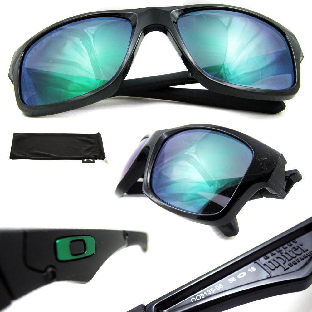 5c41bcb28f9 Sentinel Oakley Sunglasses Jupiter Squared Polished Black Jade Iridium  OO9135-05