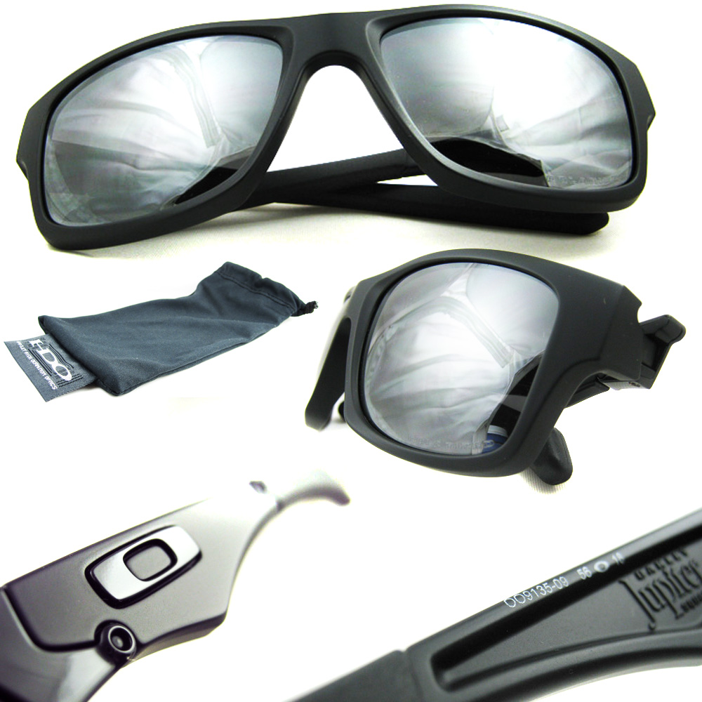 bf80286ec2f Sentinel Oakley Sunglasses Jupiter Squared Matt Black Black Iridium  Polarized OO9135-09