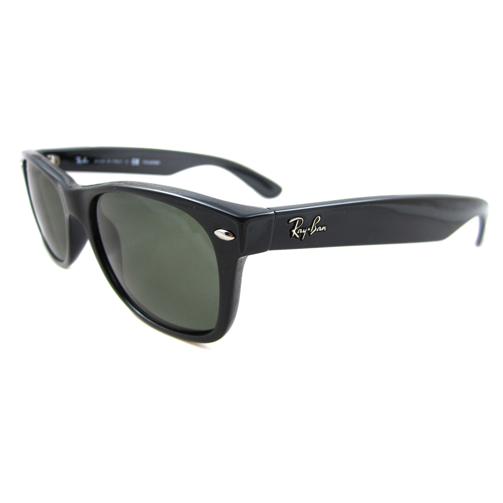 38bfea7a60 Sentinel Thumbnail 1. Sentinel Ray-Ban Sunglasses New Wayfarer 2132 901 58  Black Green Polarized