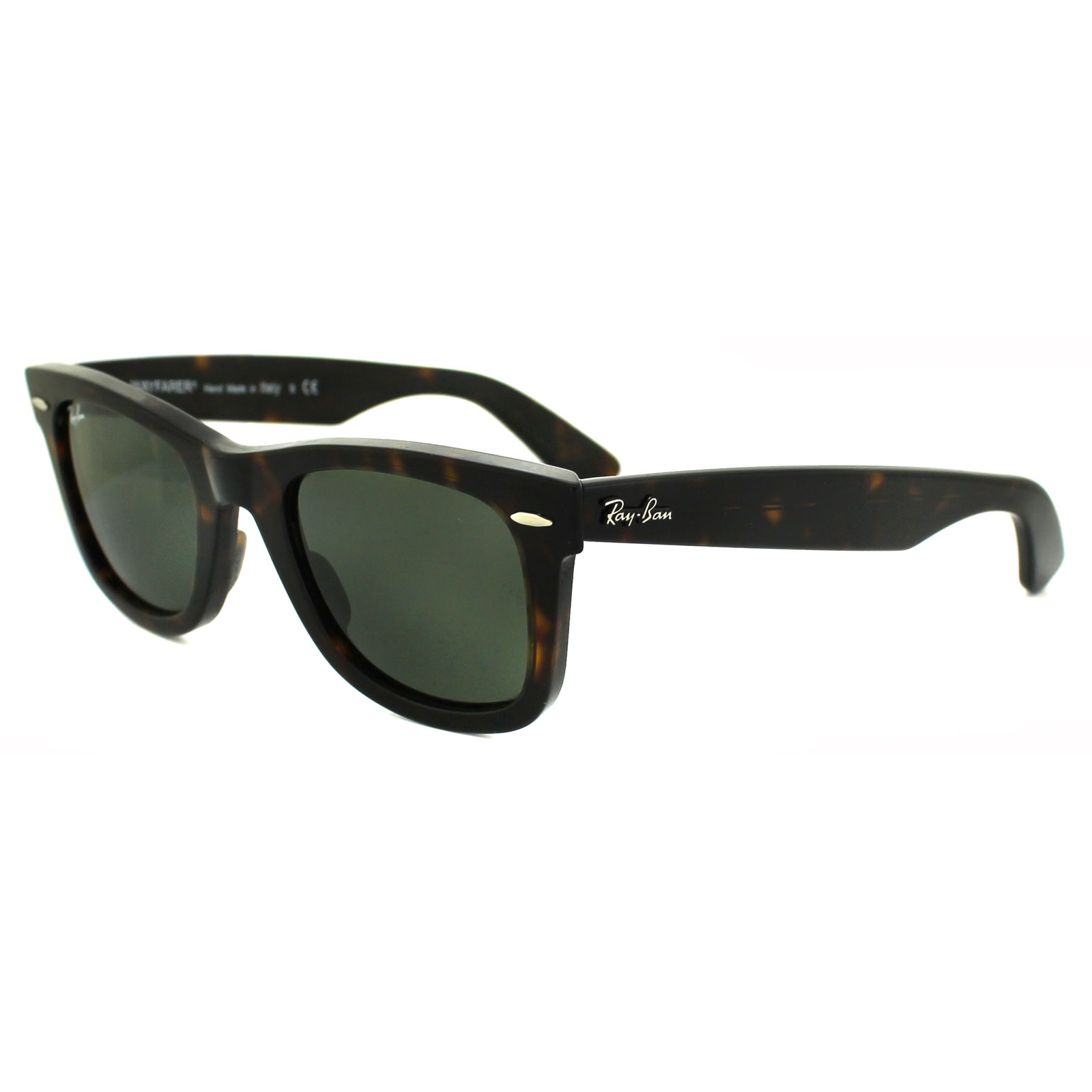 e760178fc37 Ray-Ban Sunglasses Wayfarer 2140 902 Tortoise Green G-15 Small 47mm  Thumbnail 1 ...