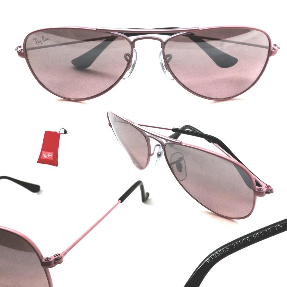 Ray ban junior occhiali da sole 9506 211 7e rosa rosa specchio argento gradienti ebay - Occhiali a specchio rosa ...