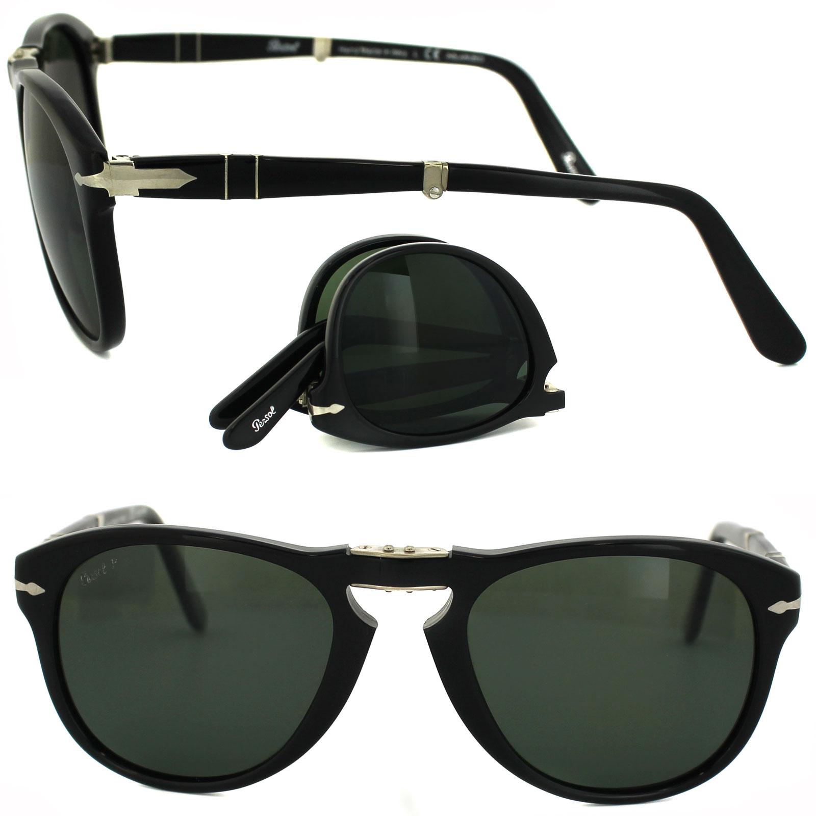 5c479c25bf Sentinel Persol Sunglasses 714 95 58 Black Green Polarized Folding Steve  McQueen 54mm