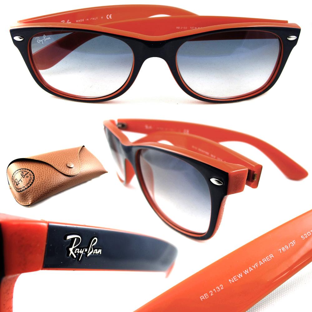 ray ban wayfarer blau orange