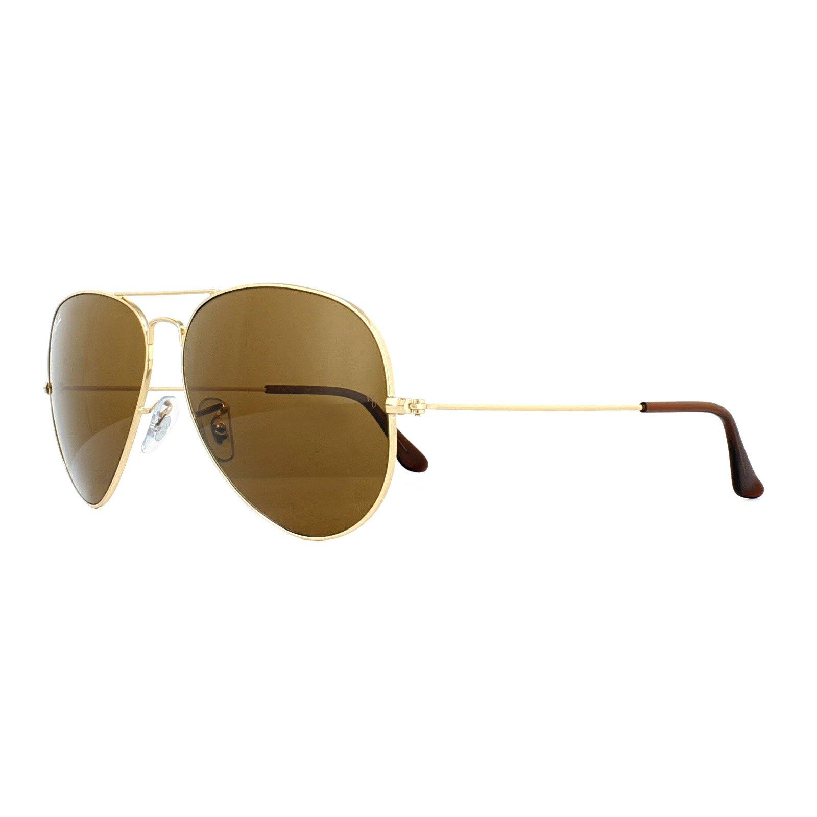 2826dc4f19 Ray-Ban Sunglasses Aviator 3025 001 33 Gold Brown 805289178330