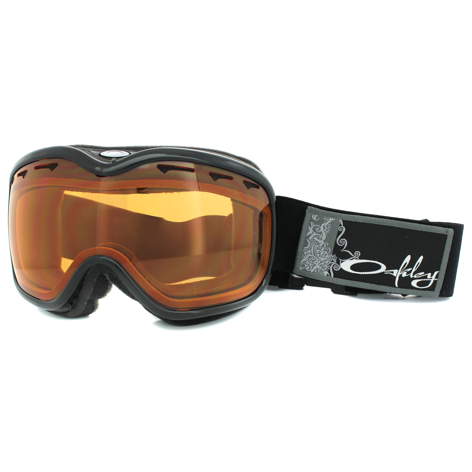 b8c566b8c2 Oakley Snow Goggles Stockholm Jet Black Persimmon 02-966 Thumbnail 1 ...