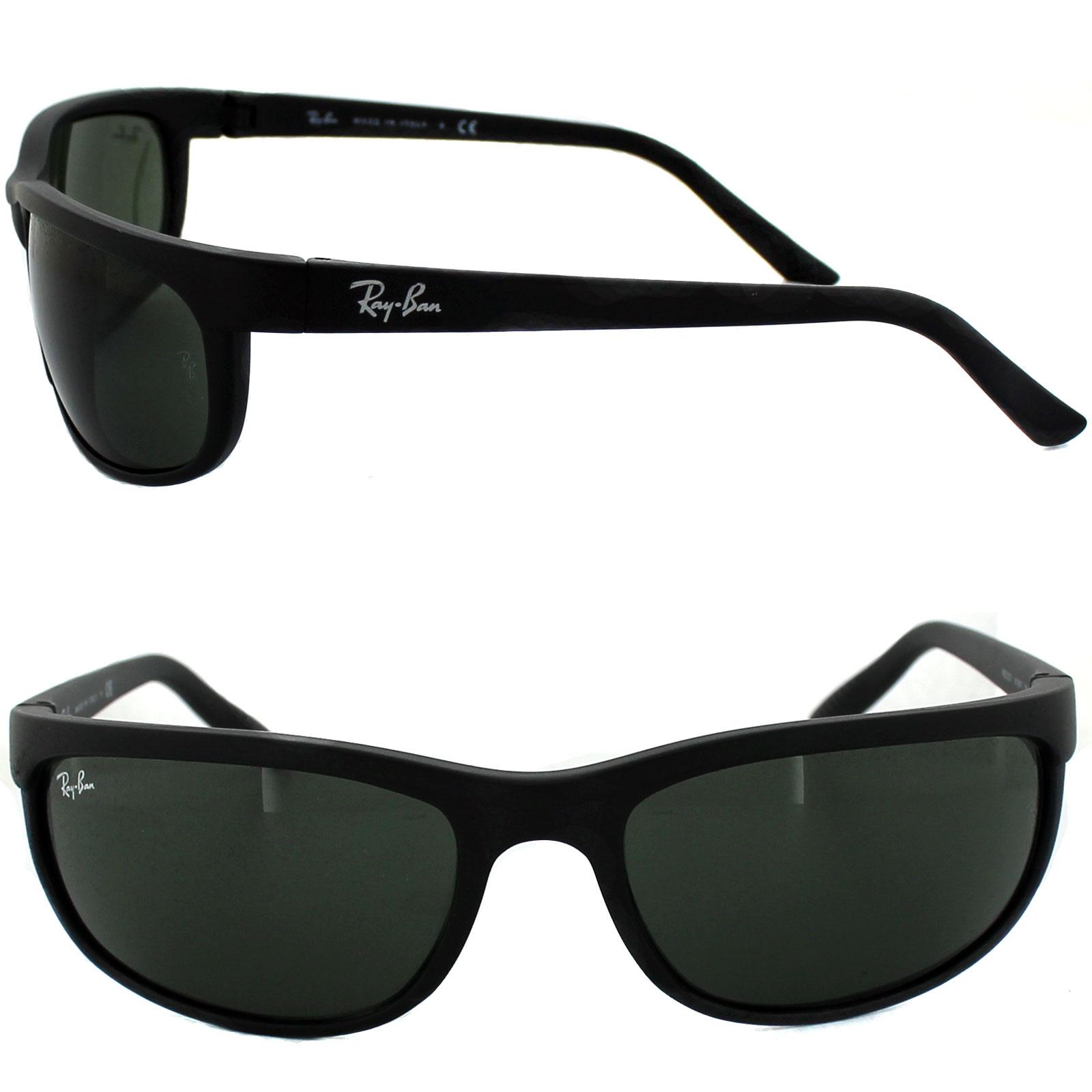 0e2e4789b0 Sentinel Rayban Sunglasses Predator 2 2027 Black Matt Black Green W1847