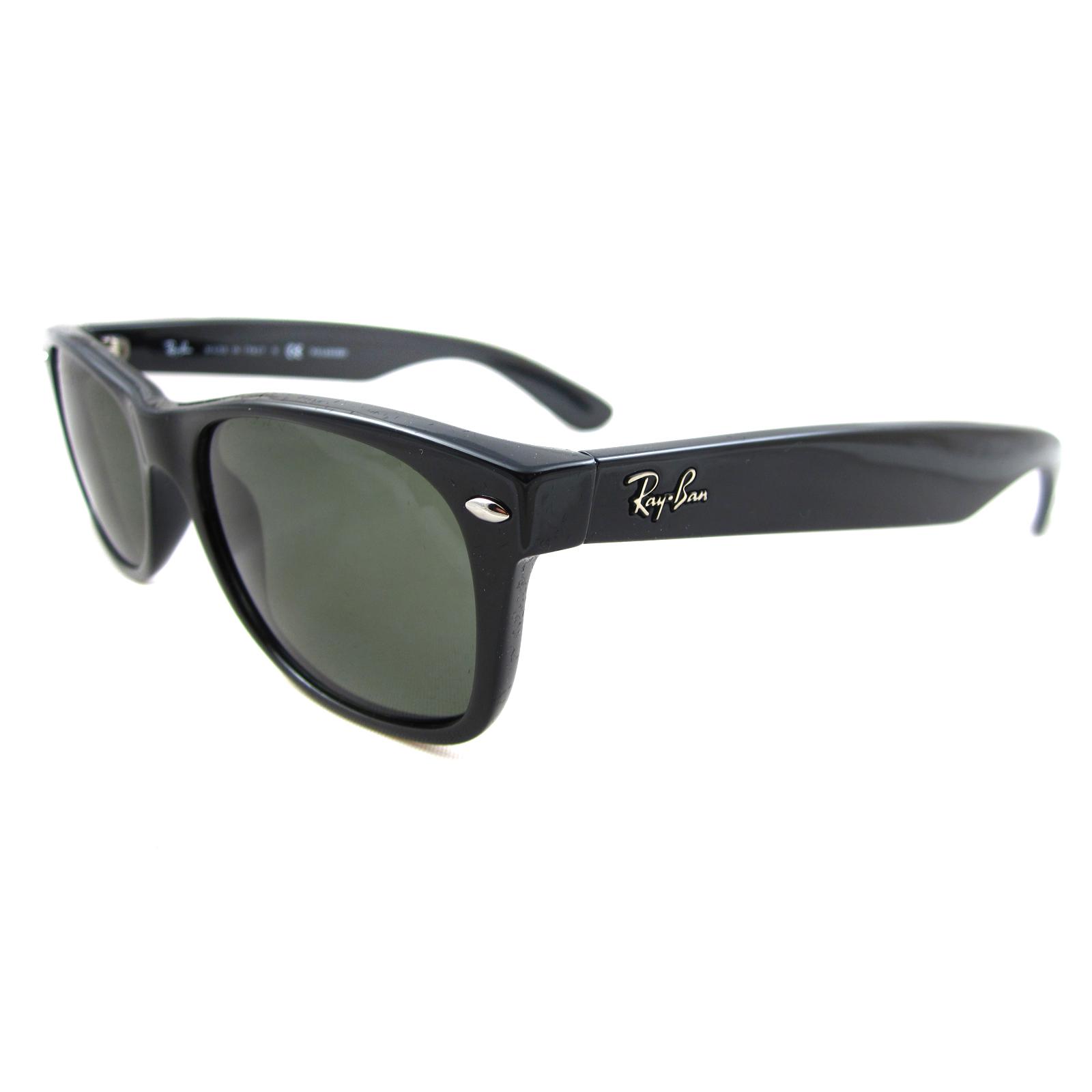 RAY BAN RAY-BAN Herren Sonnenbrille »NEW WAYFARER RB2132«, schwarz, 901 - schwarz/grün