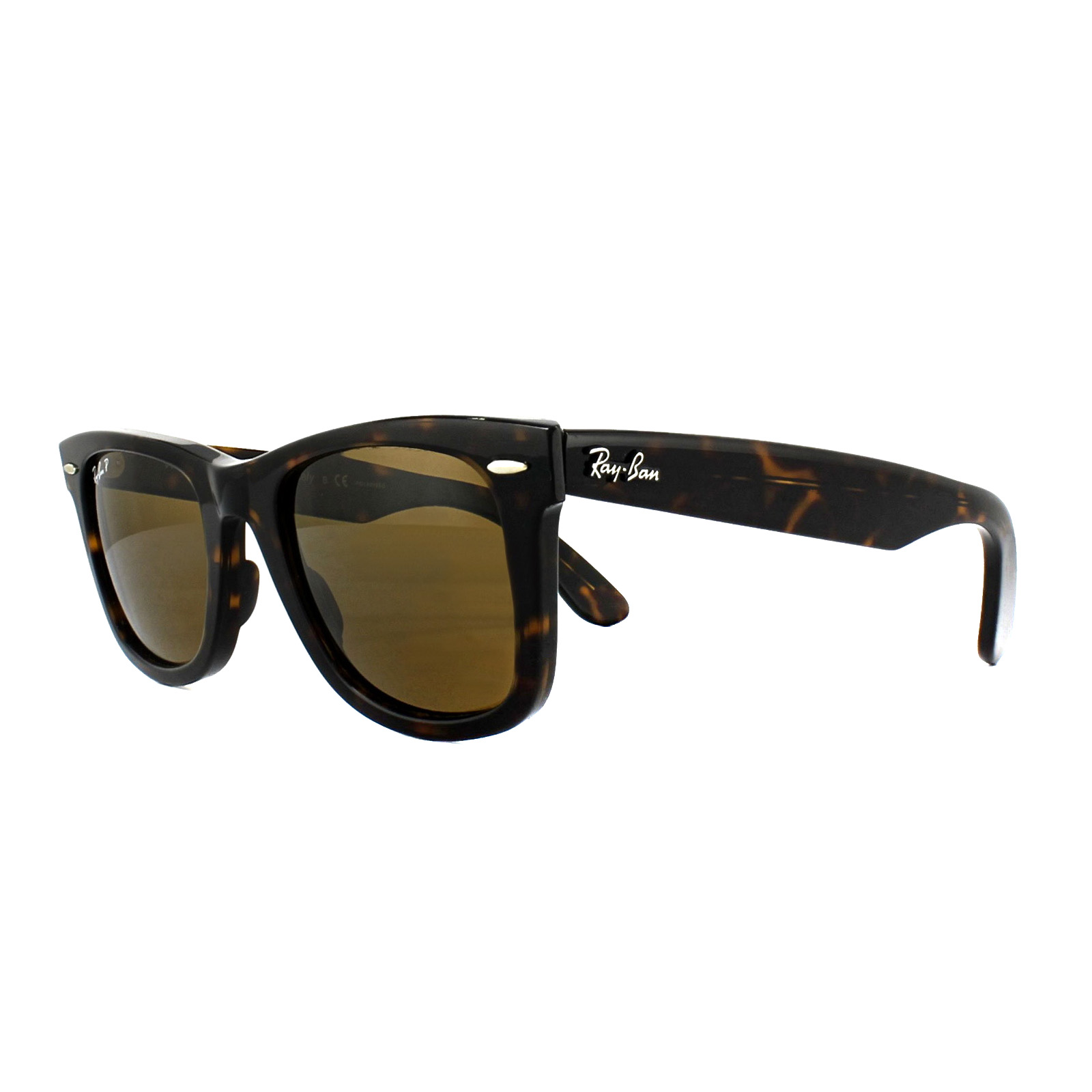 6e5fe583fe Sentinel Ray-Ban Sunglasses Wayfarer 2140 Tortoise Brown Polarized 902 57  Medium 50mm