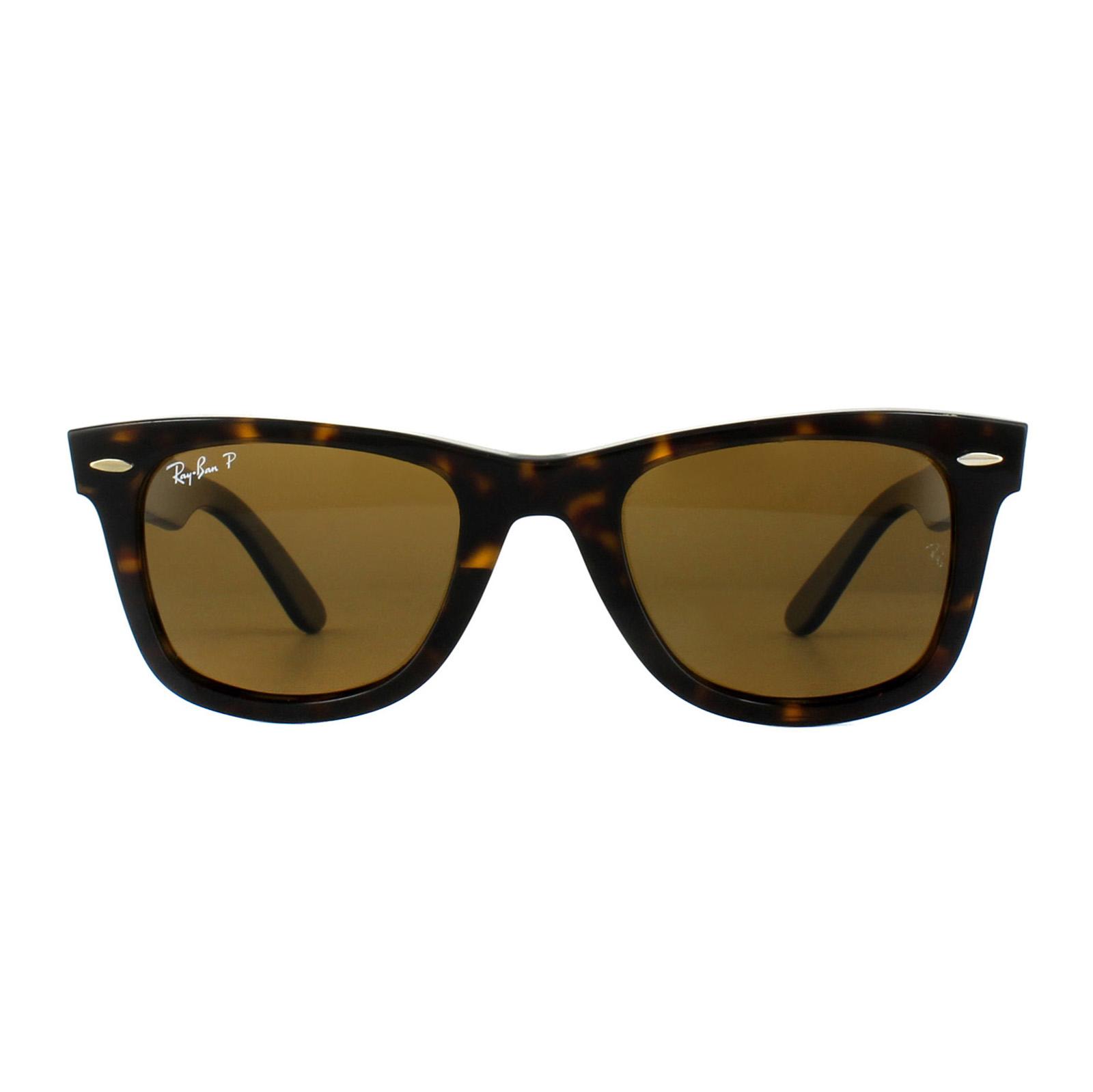 462b14abd SENTINEL Ray-Ban occhiali da sole Wayfarer 2140 tartaruga marrone  polarizzata 902/57 medio 50mm