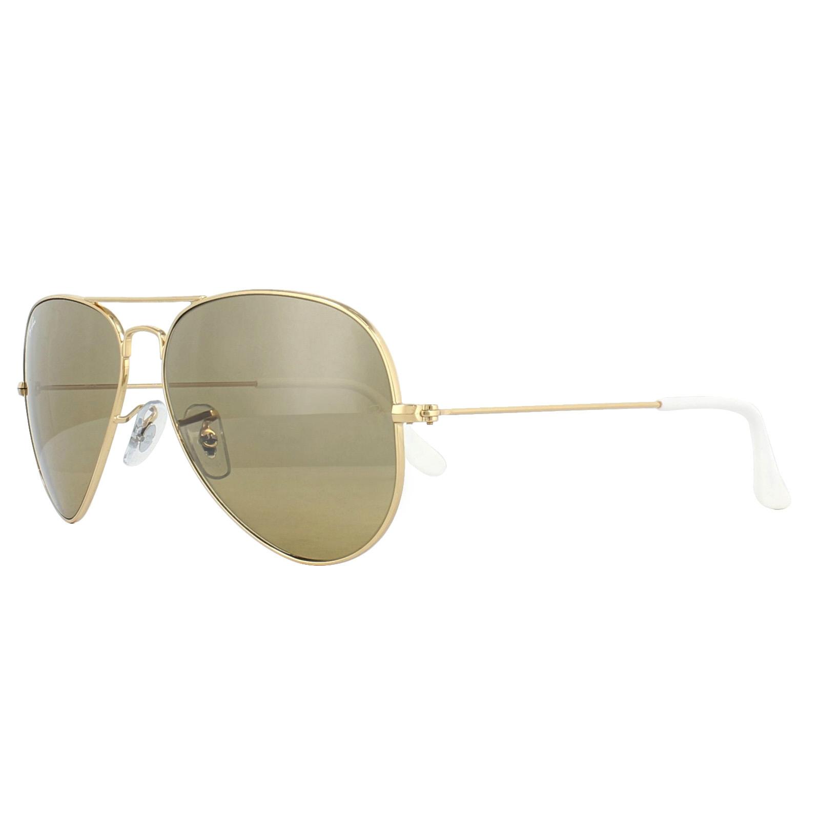 6f21f161dd549 CENTINELA Ray-Ban gafas de sol Aviator 3025 espejo marrón oro plata K 03 01