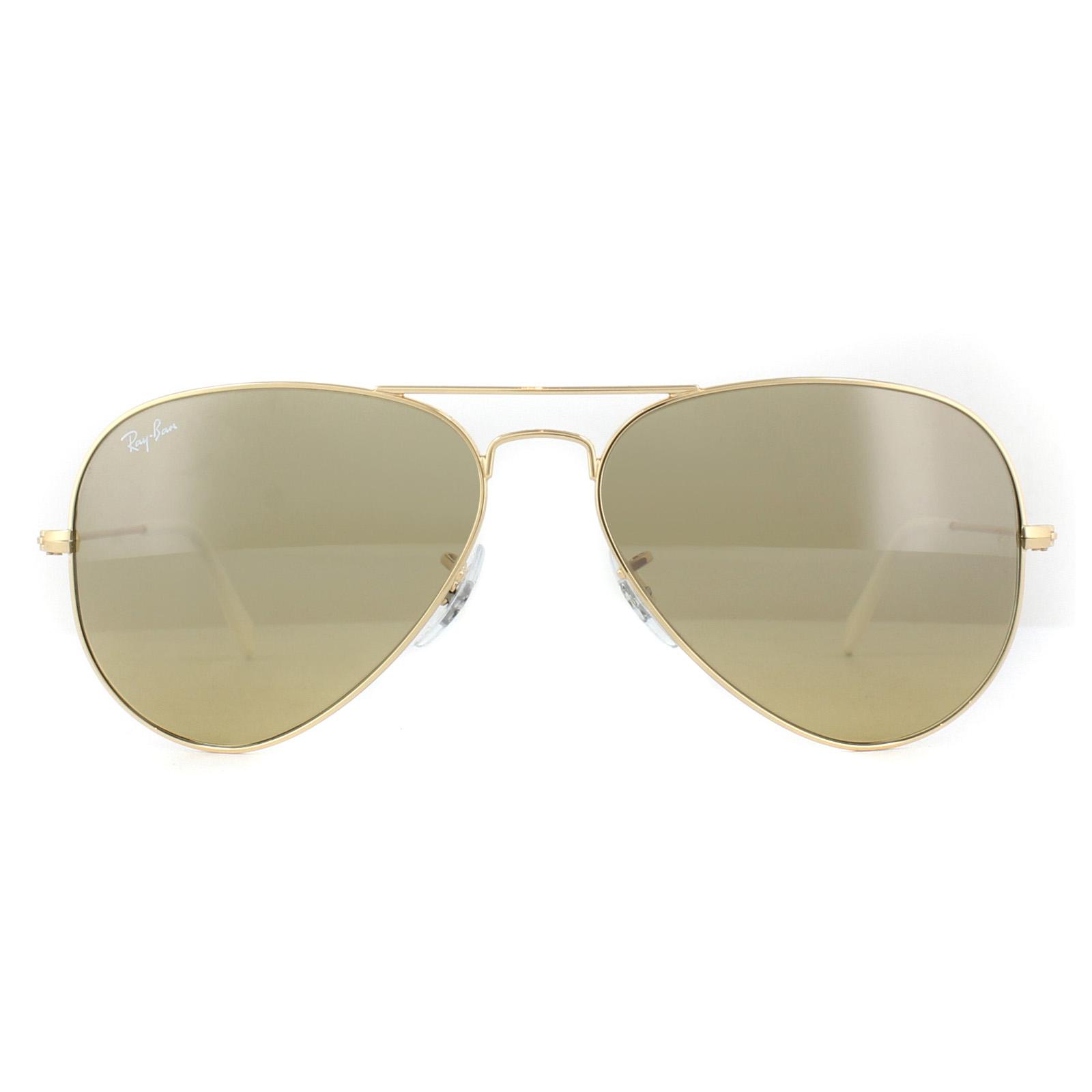 9767c325e CENTINELA Ray-Ban gafas de sol Aviator 3025 espejo marrón oro plata K 03/01
