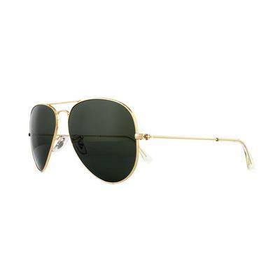 Rayban Sunglasses Aviator 3025 Gold Green W3341