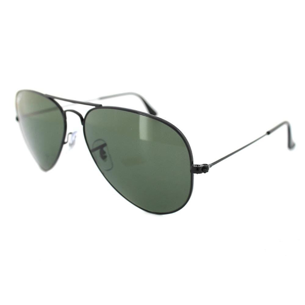 Ray-Ban RB3025 Sonnenbrille Schwarz 002/58 Polarisiert 62mm aR05G