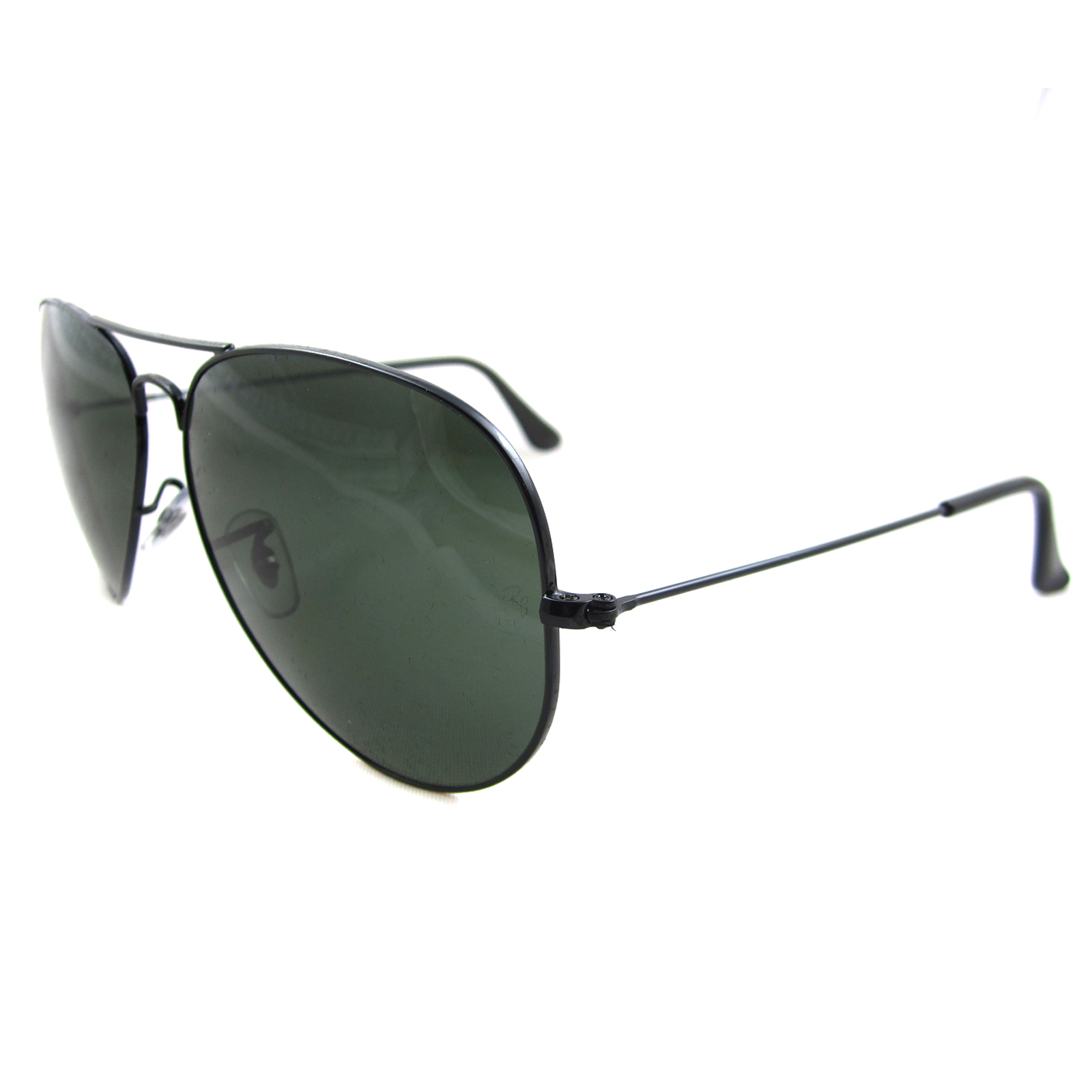 8c63049dfc Sentinel Ray-Ban Sunglasses Large Aviator 3026 Black Green G-15 L2821