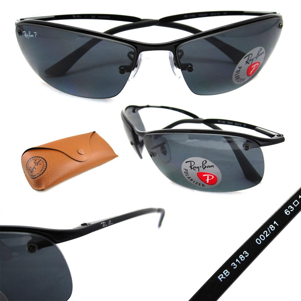 e959fabe5a7 ... order sentinel rayban sunglasses top bar 3183 shiny black polarized  grey 002 81 97c3a cfe43