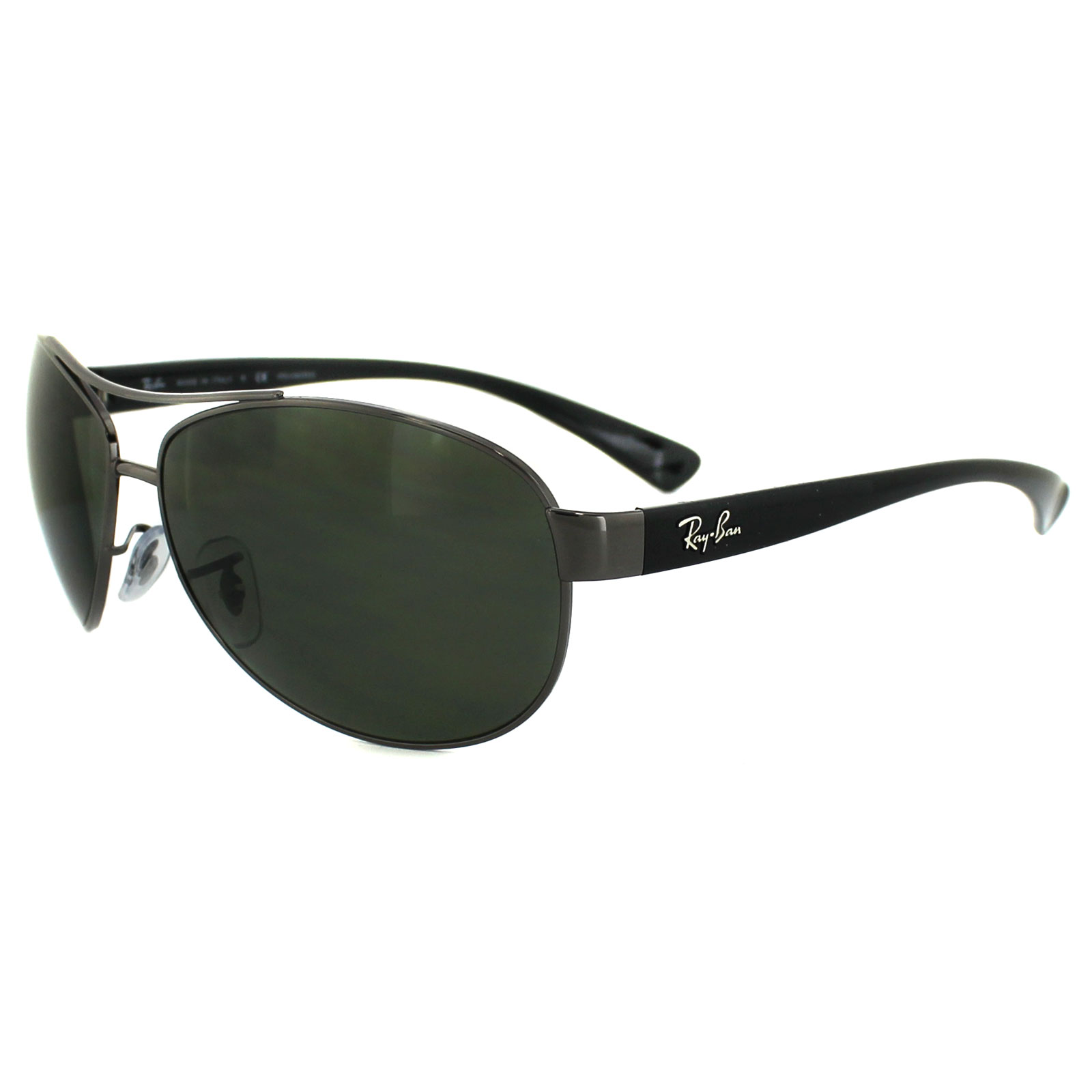 ee7cf50455 Sentinel Ray-Ban Sunglasses 3386 Gunmetal Polarized Green 004 9A Small 63mm