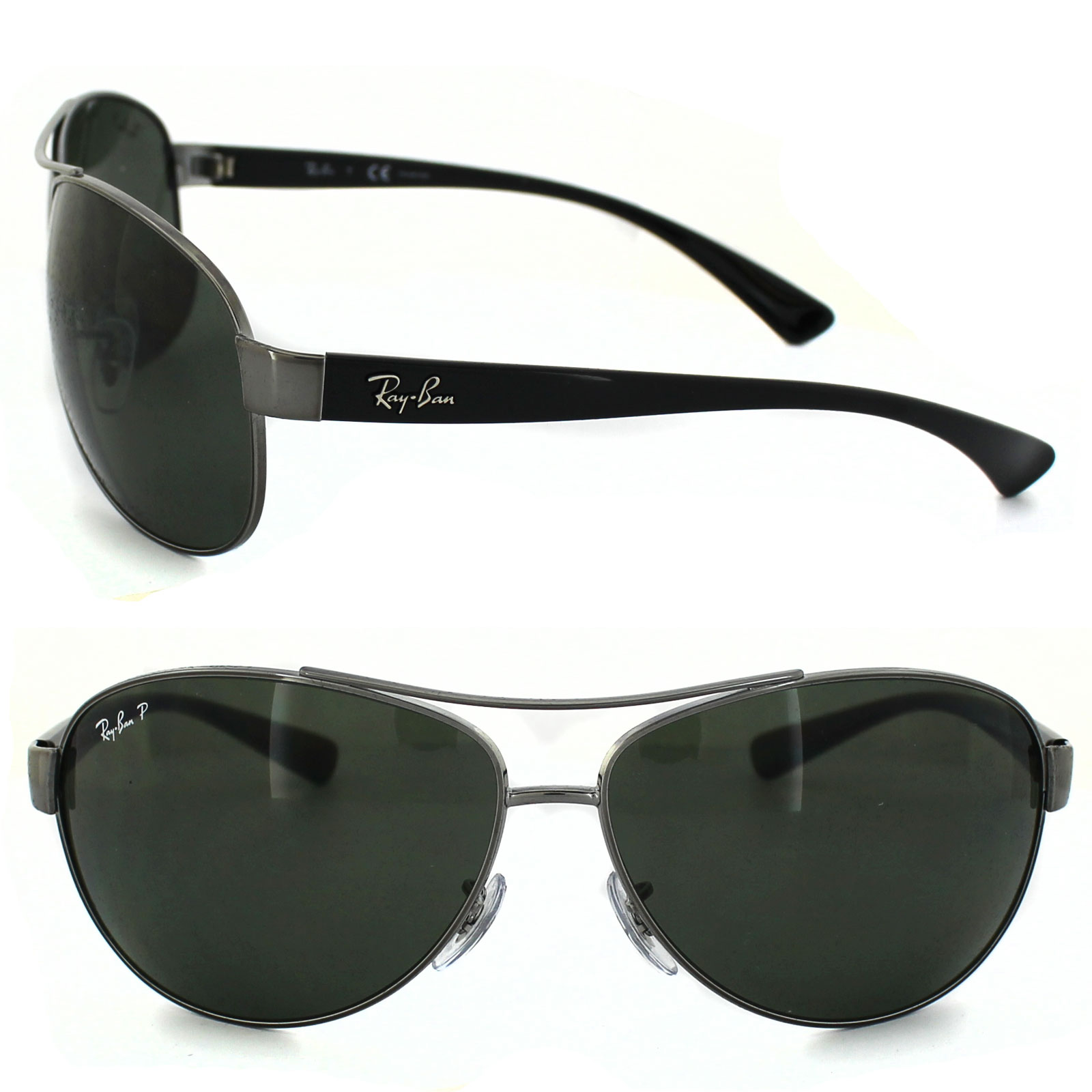 b5aa7b50fa9 Ray-Ban Sunglasses 3386 Gunmetal Polarized Green 004 9A Large 67mm  805289346821