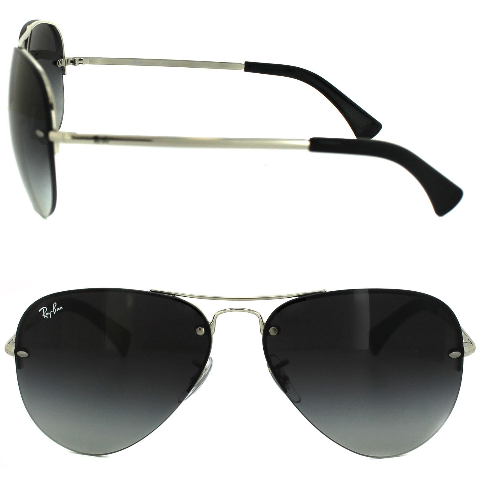 e09e7964c4 Sentinel Rayban Sunglasses 3449 Silver Grey Gradient 003 8G 59mm