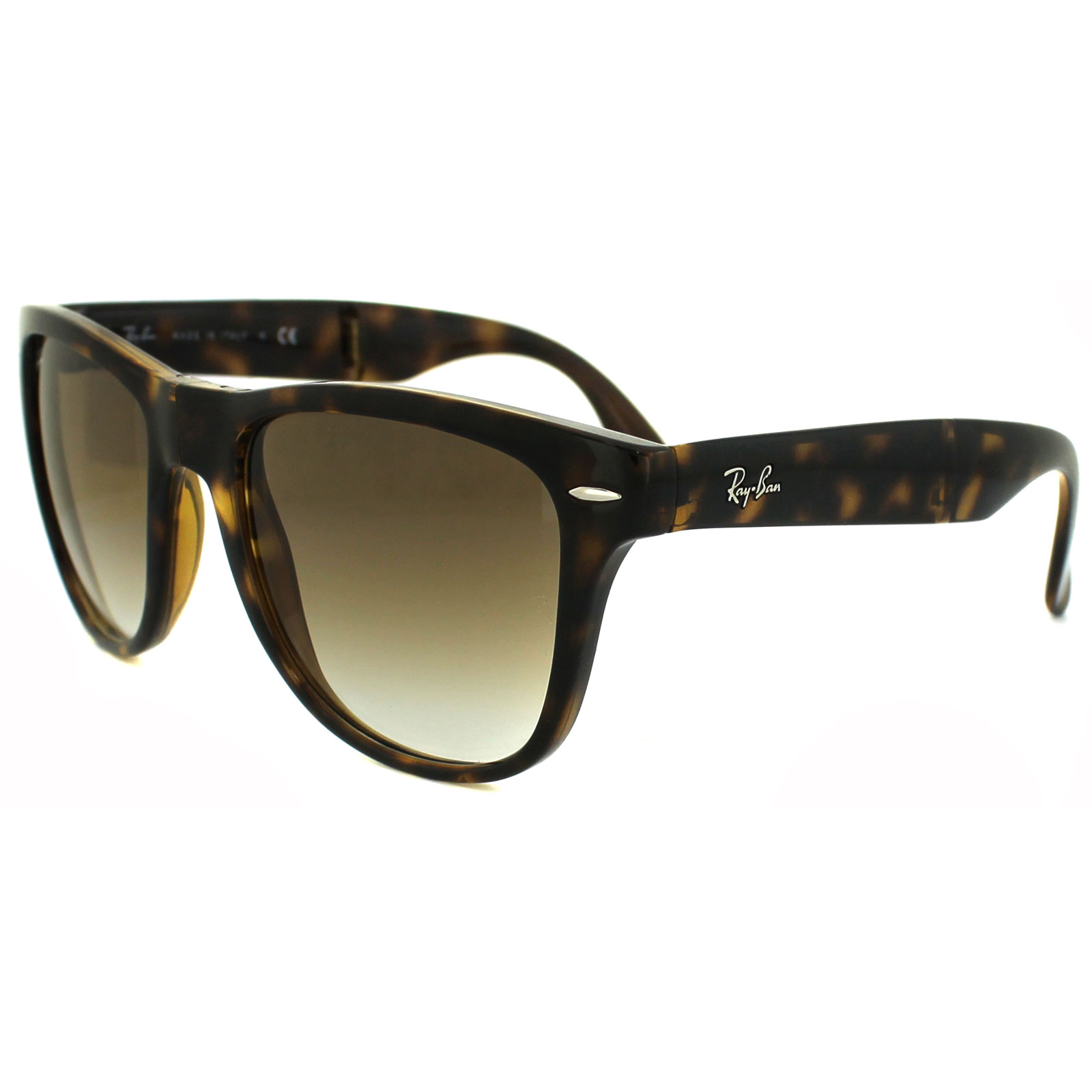 closeout sentinel ray ban sunglasses folding wayfarer 4105 light havana  brown gradient 710 51 l a0ab2 6158b559c151