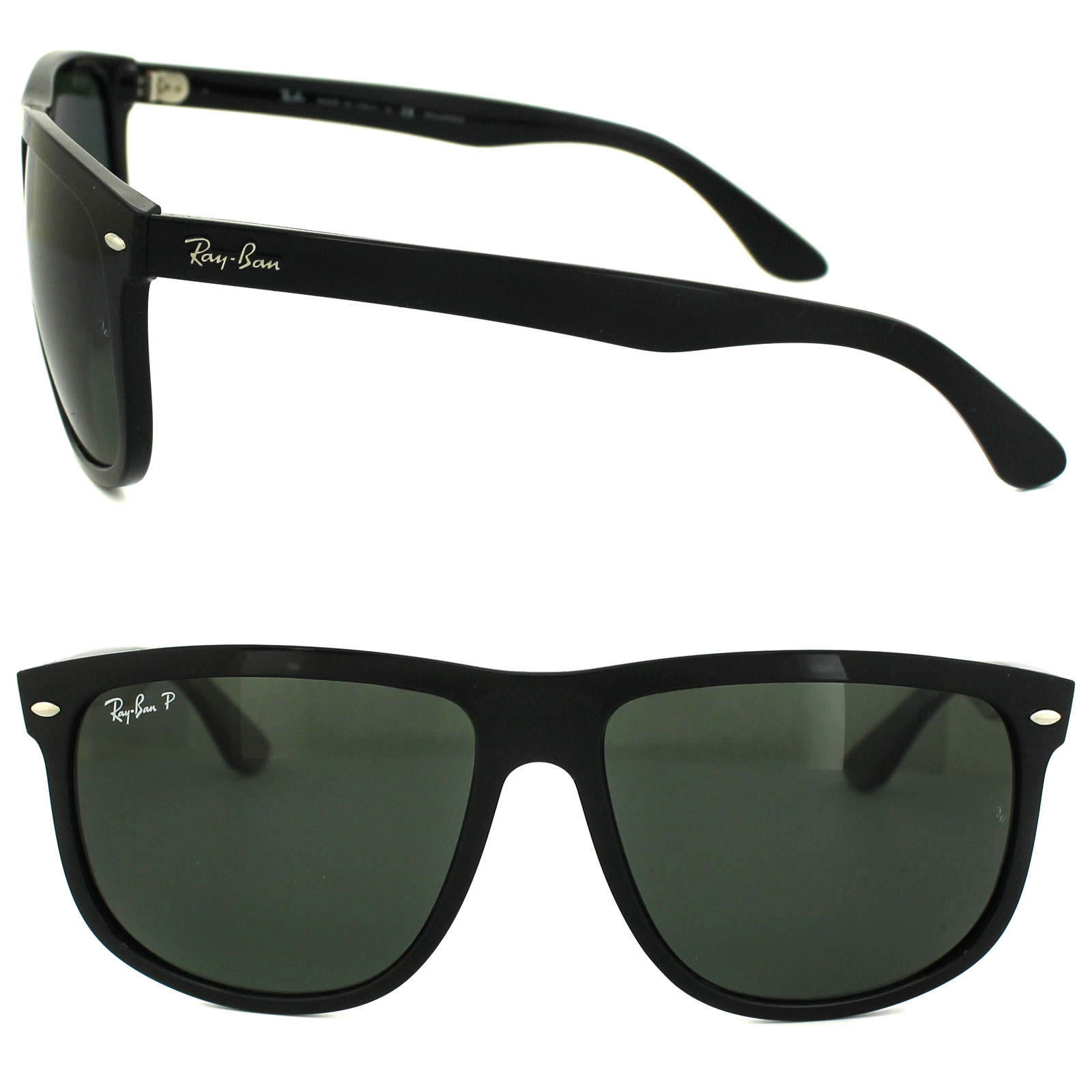 af395e927a Sentinel Ray-Ban Sunglasses 4147 601 58 Black Green Polarized Large 50mm