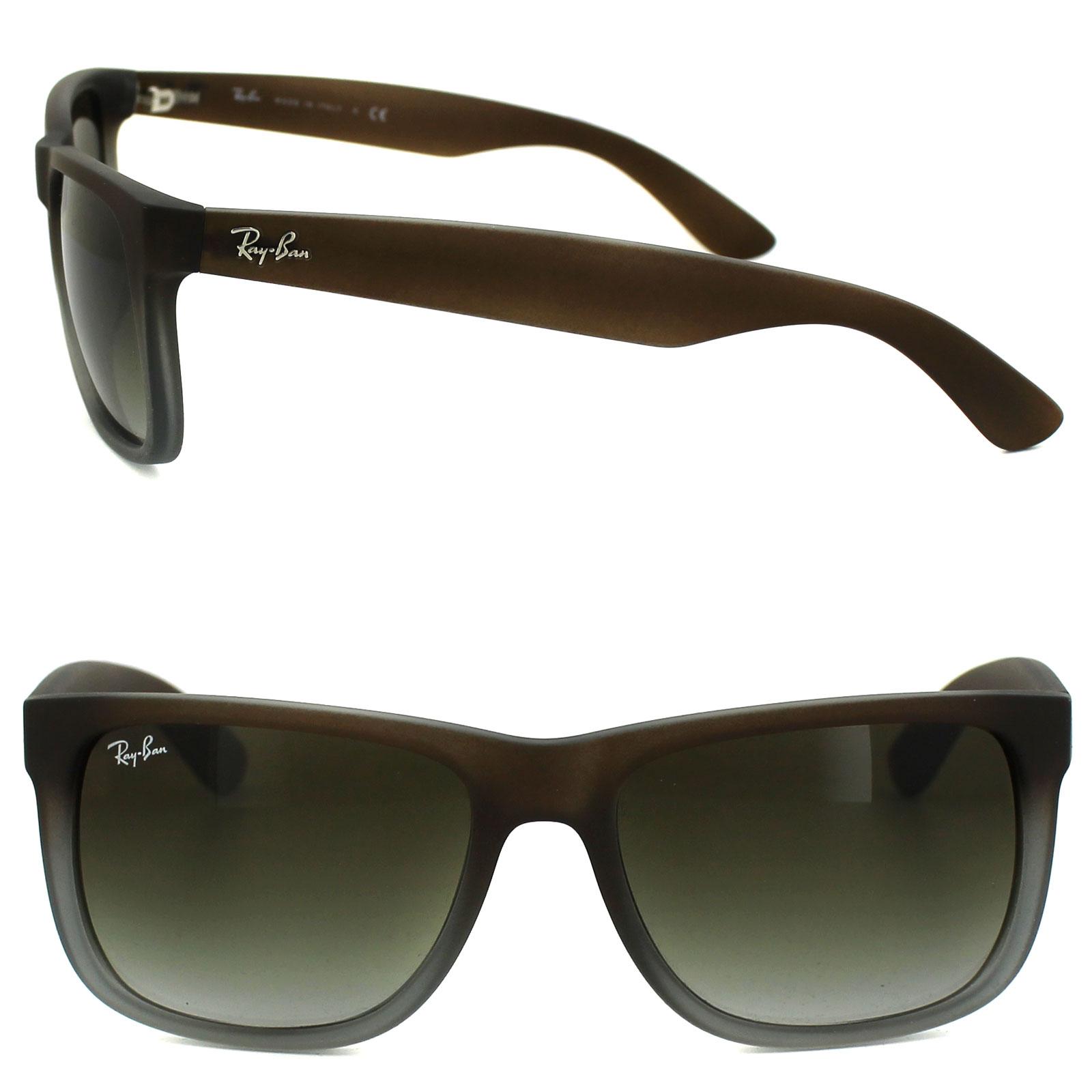 b7fa1b4430 Sentinel Rayban Sunglasses 4165 Rubber Brown On Grey Green Gradient 854 7Z