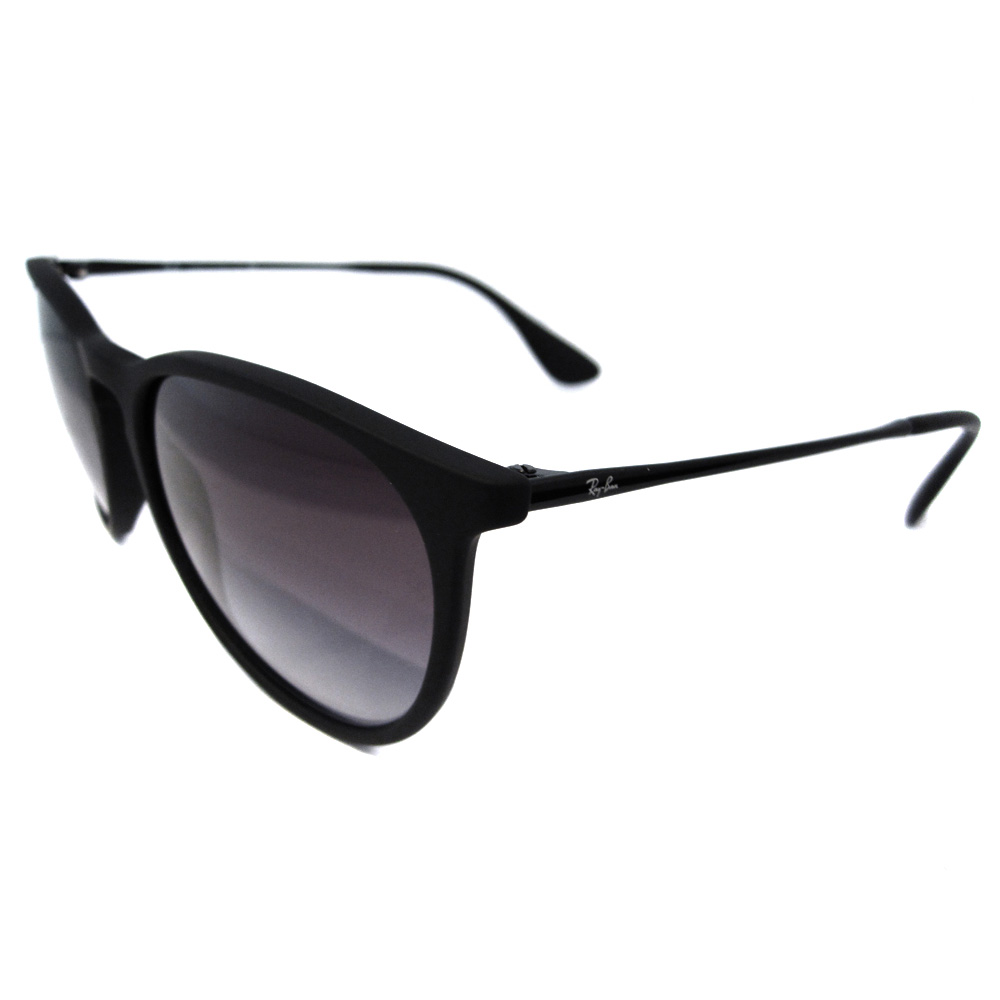 0a81e5897e Details about Rayban Sunglasses Erika 4171 Rubberised Black Grey Gradient  622 8G