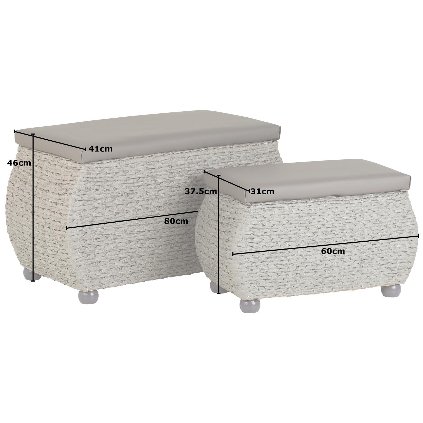 Terrific Details About Hartleys Twin Storage Trunk Stool Bedding Blanket Rattan Wicker Box Bench Seat Uwap Interior Chair Design Uwaporg