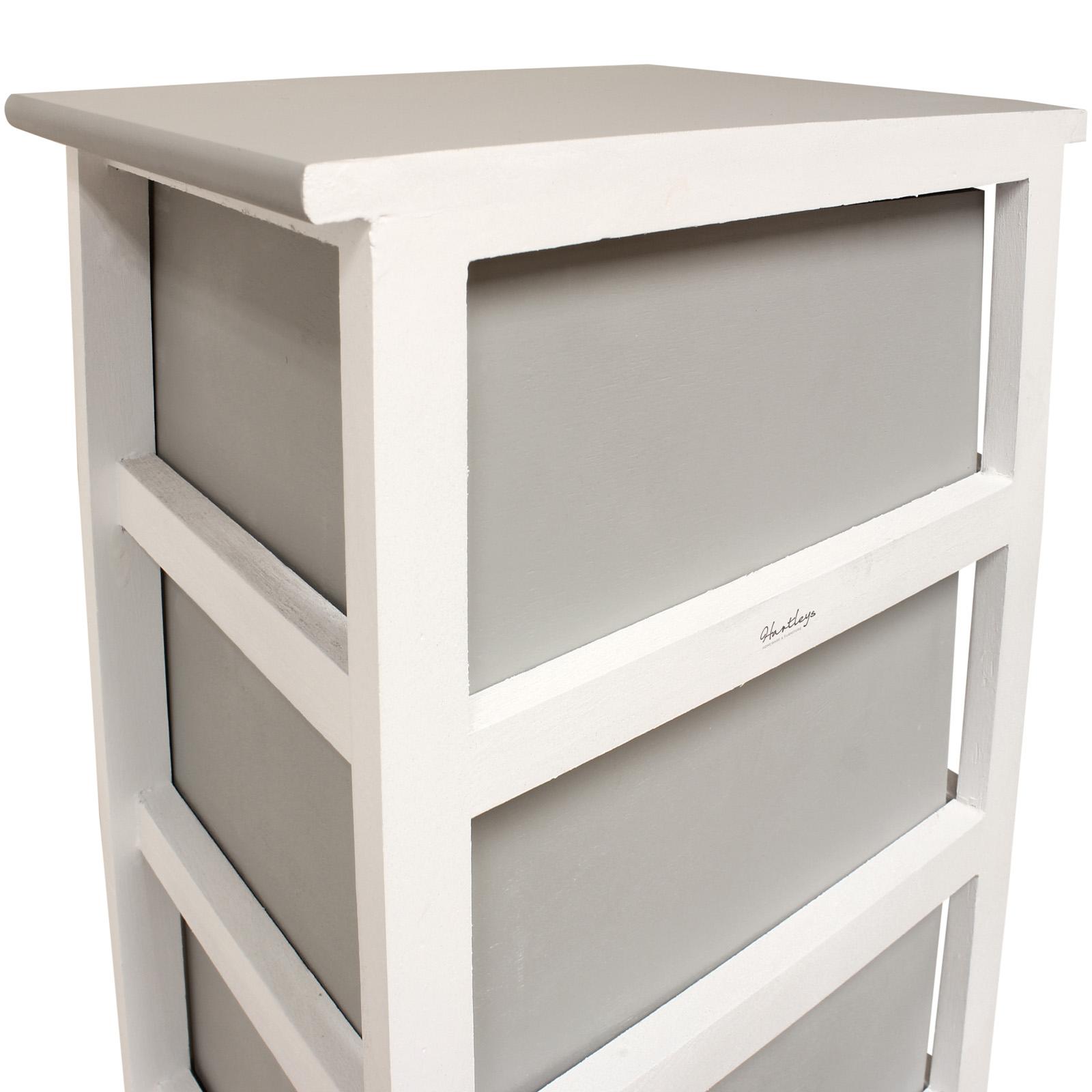 Hartleys White Grey 5 Drawer Heart Storage Unit Chest Of Drawers Girls Bedroom Ebay