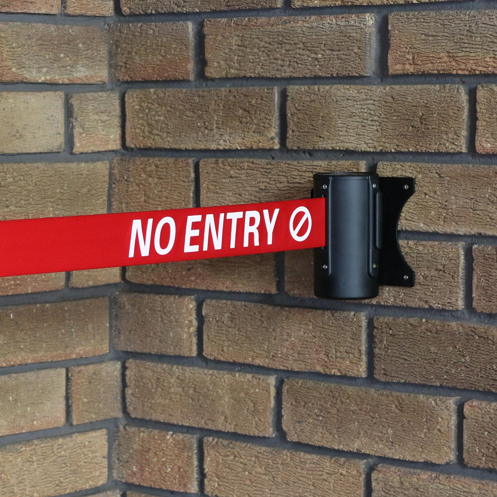 No Entry Red Retractable Security Belt Barrier Ribbon Door